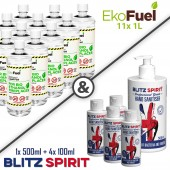 11x 1L EkoFuel + 4x 100ml Blitz Spirit + 1x 500ml Blitz Spirit