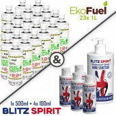 23x 1L EkoFuel + 4x 100ml Blitz Spirit + 1x 500ml Blitz Spirit