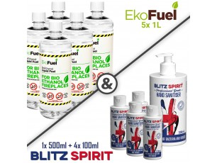 5x 1L EkoFuel + 4x 100ml Blitz Spirit + 1x 500ml Blitz Spirit