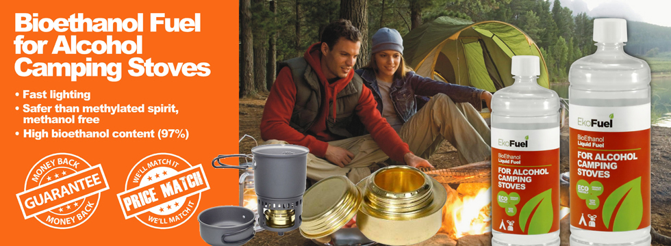 Ethanol for alcohol camping stoves